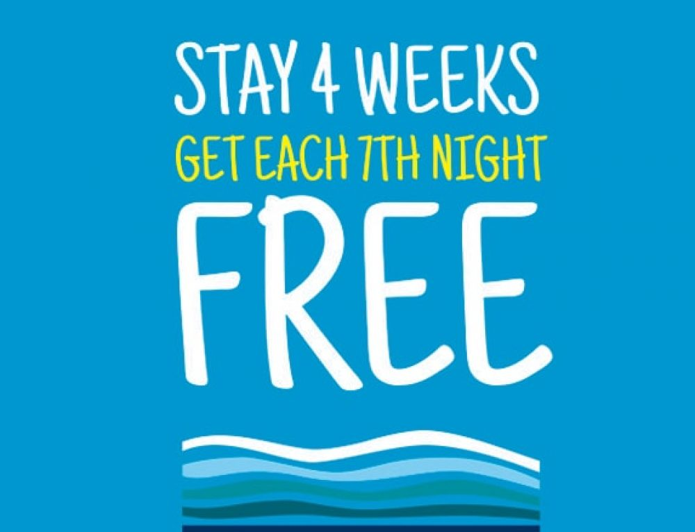 Stay for 4 weeks – Get each 7th night for FREE