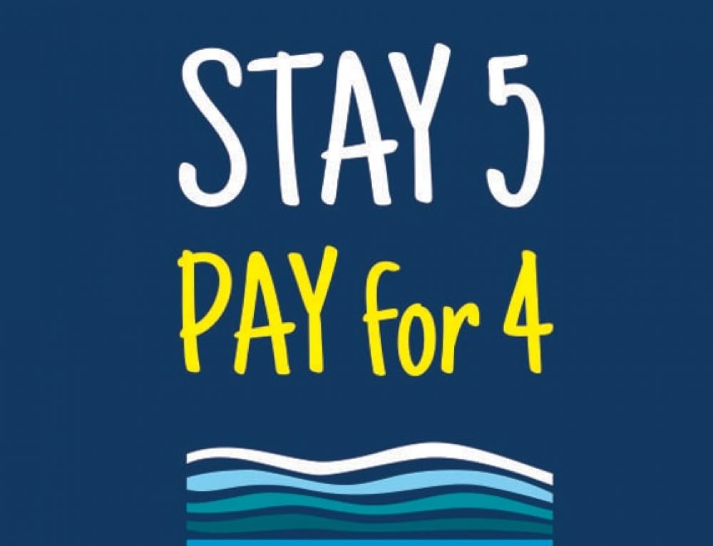 Stay 5 – Pay for 4 Deal