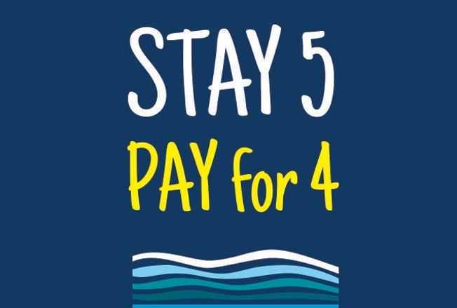 Stay 5 Pay for 4 Deal Logo